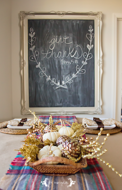 Thanksgiving Tablescape Fall Decorating