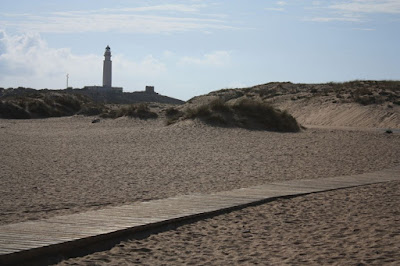 Trafalgar lighthouse from Caños de Meca beach