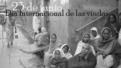 El 23 de junio se celebra el día internacional de las viudas.