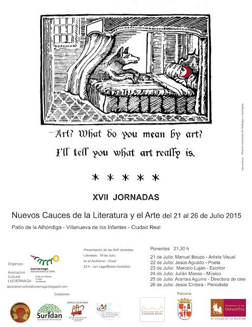 XVII JORNADAS LITERARIAS (NUEVOS CAUCES DE LA LITERATURA Y EL ARTE)