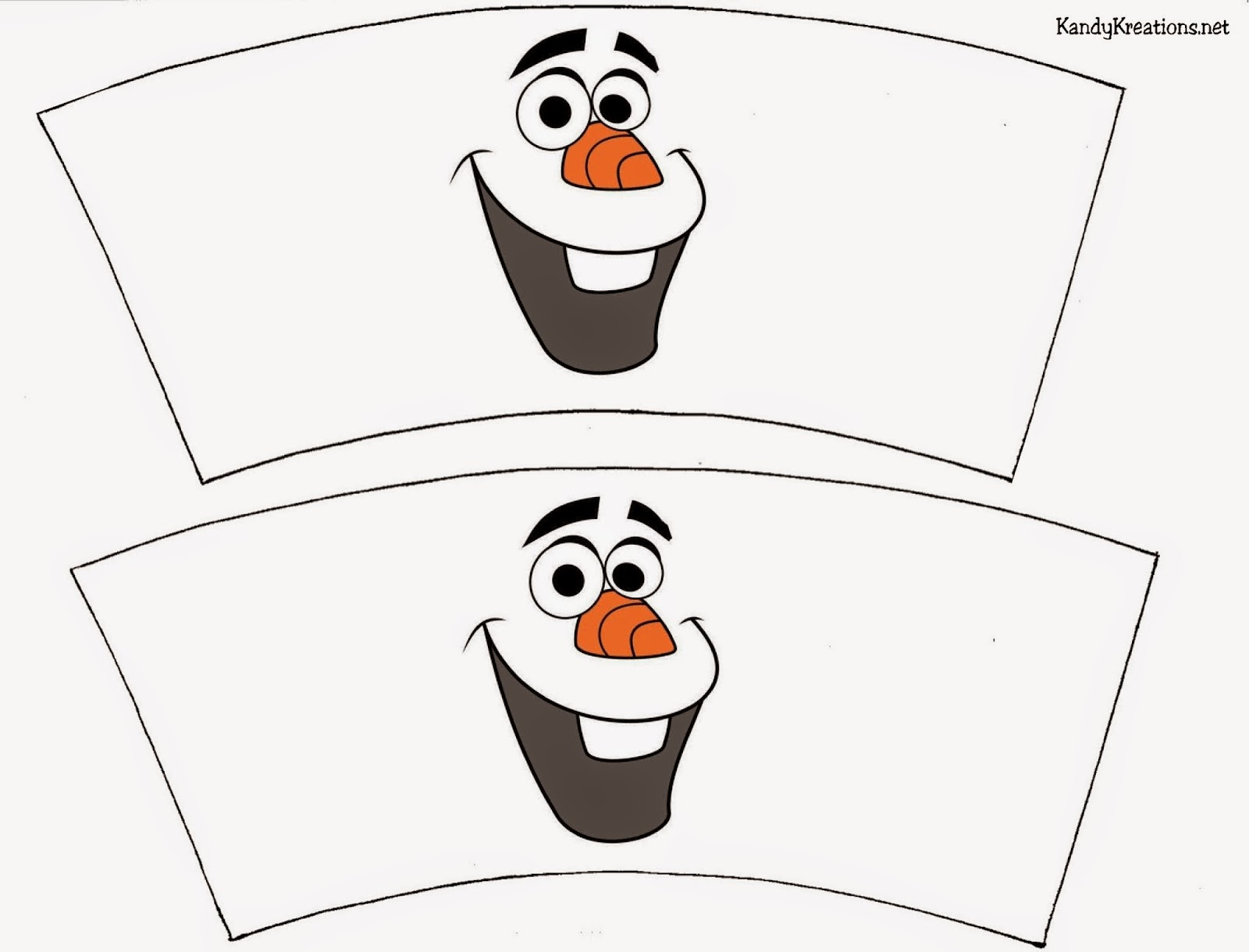 Spice up your party drinks and snacks with this cute cup wrapper printable.  Olaf smiles from the wrapper to brighten up your Frozen birthday party.  It's quick, easy, and free to add your favorite snowman to the party