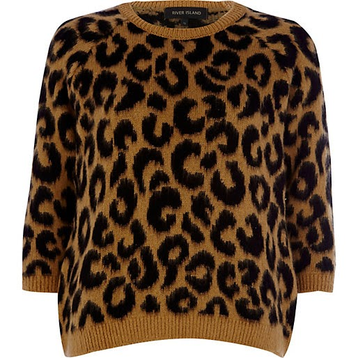 river island leopard jumper