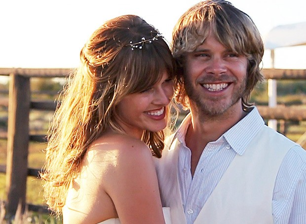 Eric Christian Olsen   s wedding to actress Sarah WrightDavid Paul Olsen Stunt Double