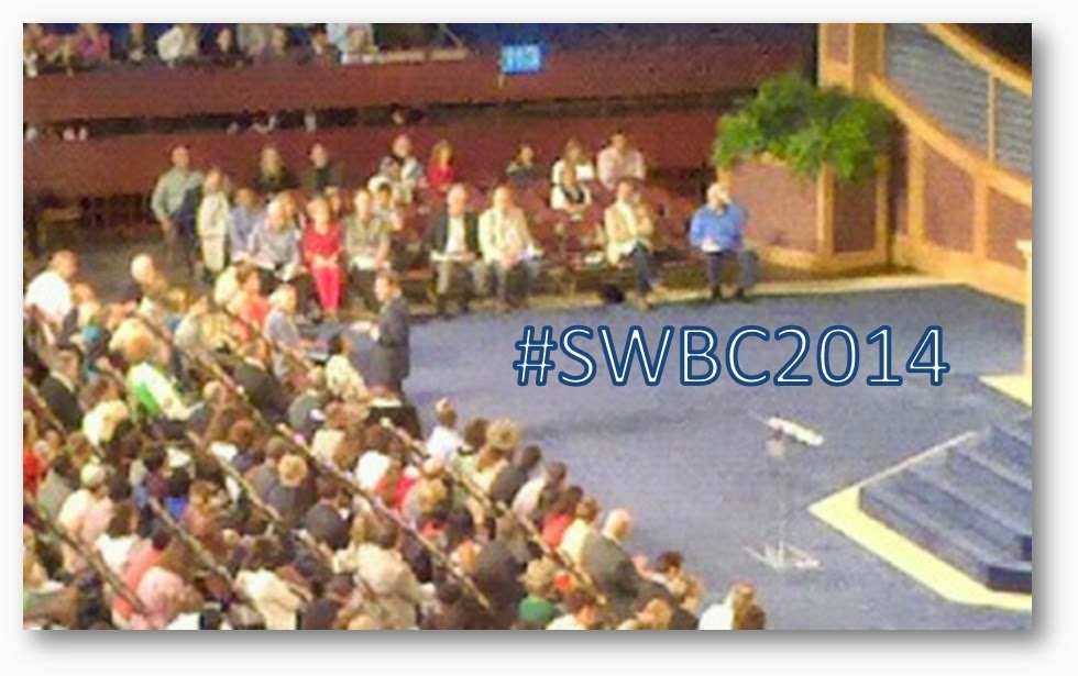 Kenneth Copeland @ The #SWBC2014 taken from section 306. Saturday Evening Service