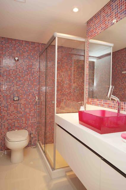 COISAS DE MENINA Decoração # Decoracao De Banheiro Com Pastilha Rosa