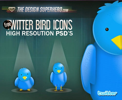Free PSD Twitter Bird Icons