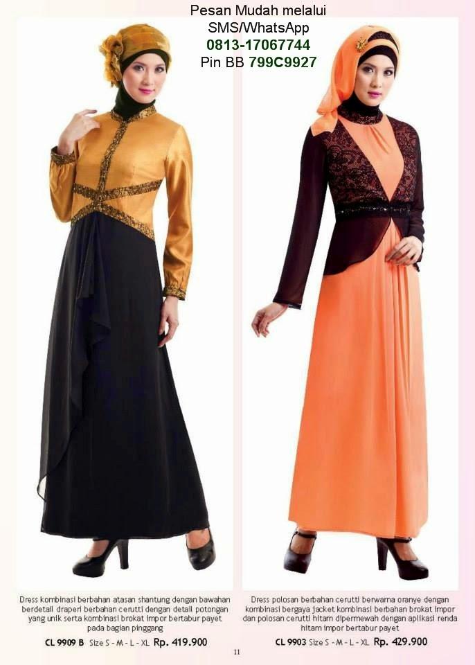 Gamis pesta model terbaru cantik berbaju muslim Model baju gamis terbaru lebaran 2014