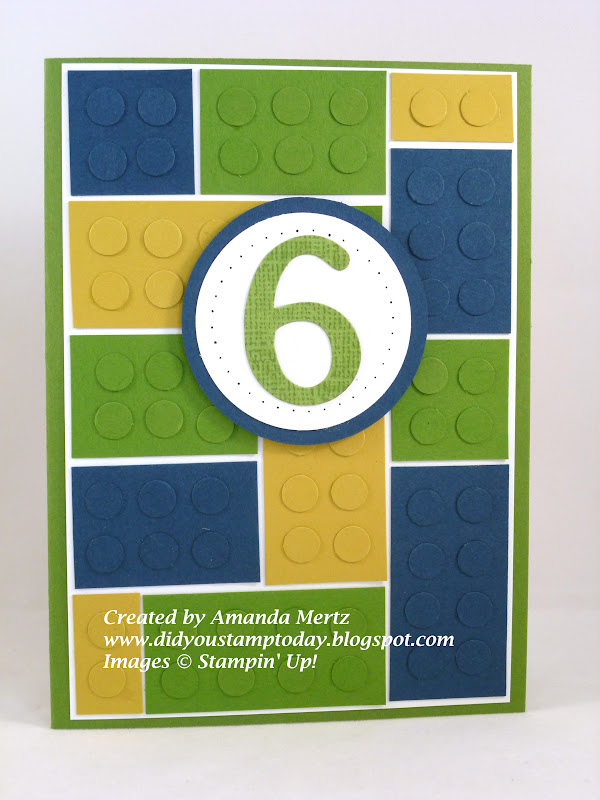 Did You Stamp Today Lego Birthday Card – Lego Birthday Card