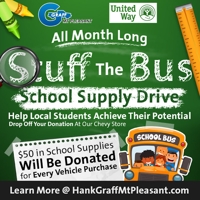"Graff Mt. Pleasant Presents ""Stuff The Bus"" To Support United Way"