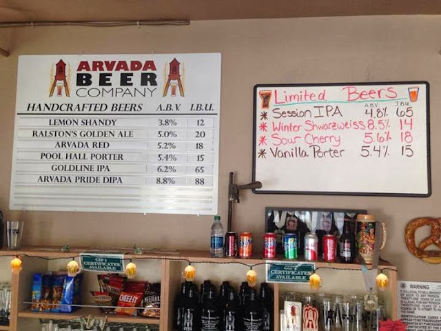 Arvada Beer Company tap list