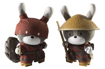 Kidrobot Night & Day Red Raku 8 Inch Dunnys by Huck Gee