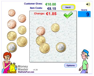 Μαθαίνω τα ευρώ και τα ρέστα