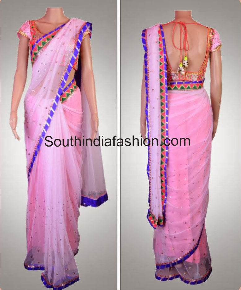 latest saree designs 2014