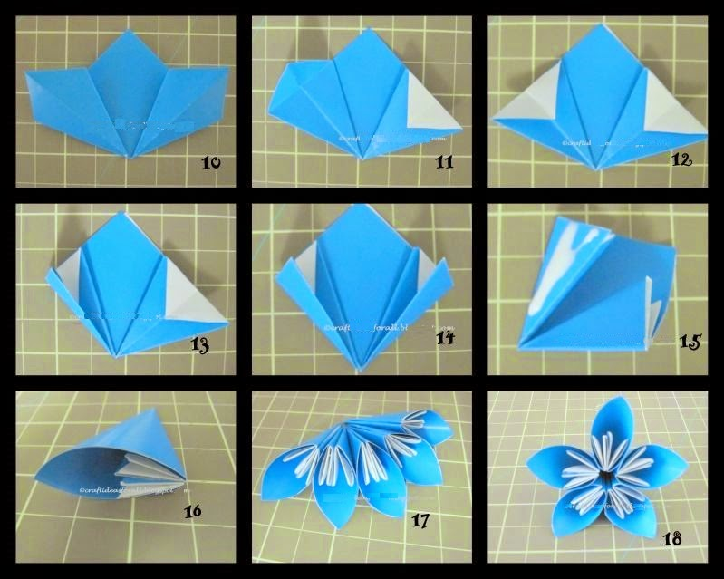 Arts Crafts Ideas Movement: How To Make An Origami Kusudama Flower