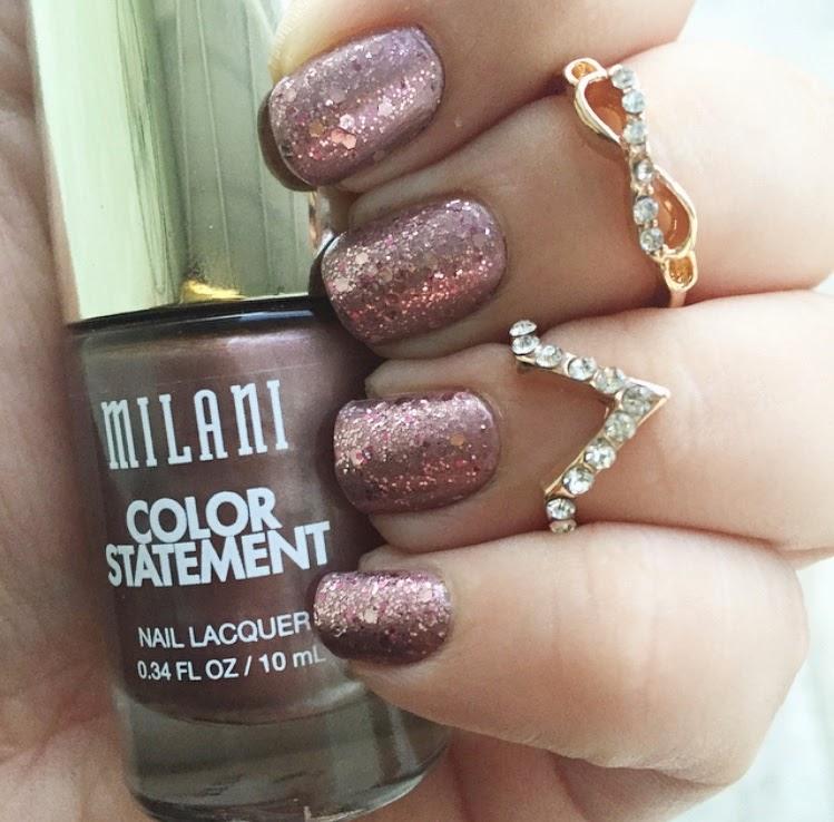 Rose Gold Nails With Milani || Uñas Color Oro Rosa con Milani