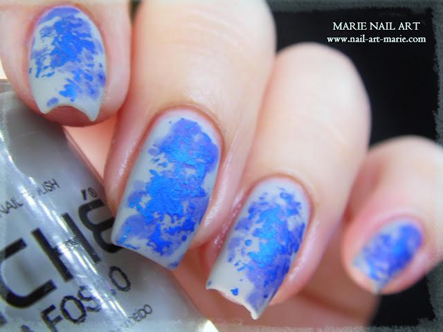 Nail Art Double Texture de Bleu2
