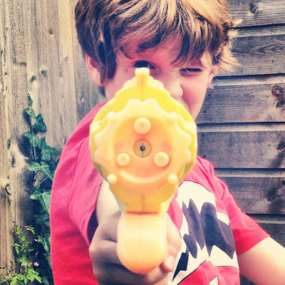 Looking down the barrel of a water pistol