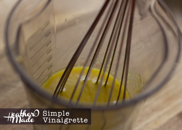 Simple Vinaigrette from things you already have on hand. heatheromade. recipe. easy. salad dressing.