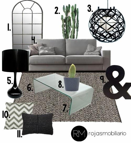Ideas shopping salón blanco negro gris