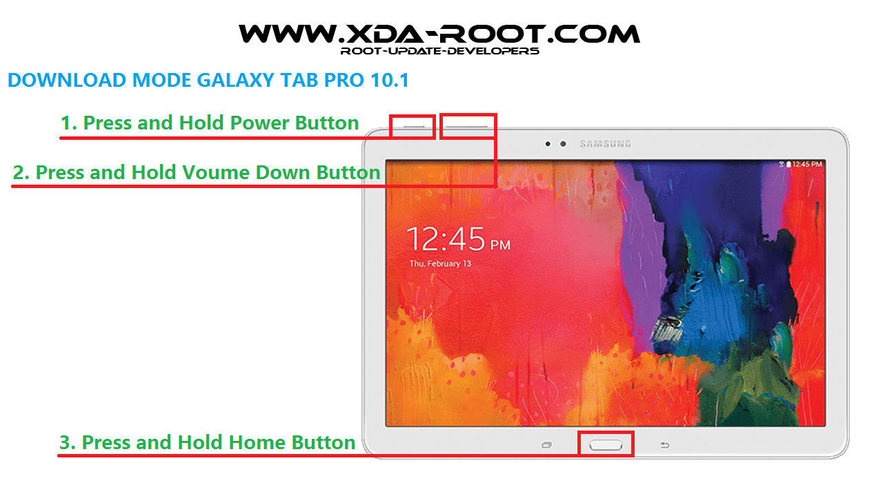 GALAXY TAB PRO 10.1-DOWNLOAD MODE