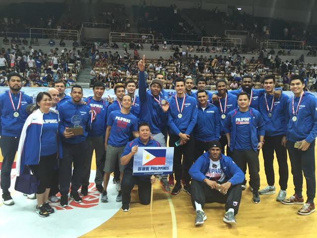 Team Gilas Pilipinas gold MVP cup 2015