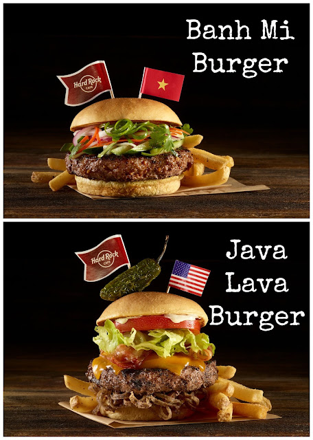 Hard Rock Cafe New World Burger Tour Menu, This is Hardrock, Rocky Burger, Burgers from around the world