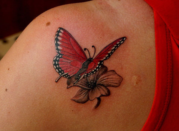 Butterfly flying away tattoos - photo#11