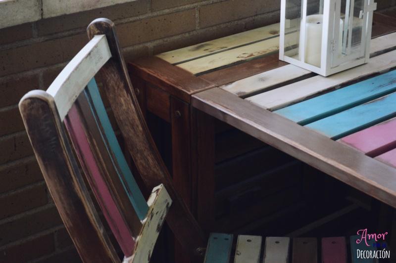 Perfecto Muebles De Jardín Repintado Composición - Muebles Para ...