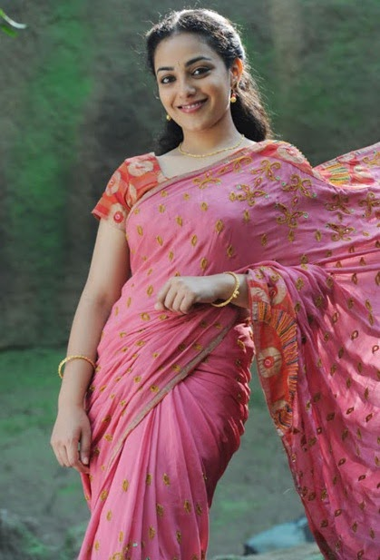 Nithya Menon Sexy Hot Saree Photos, Stills, Images, Gallery
