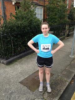 Running with a Boston Marathon memorial racing bib this month.