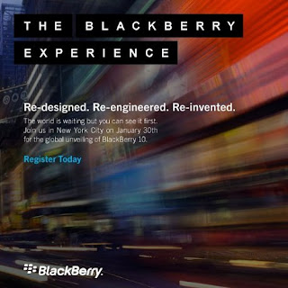 RIM Sebar Undangan Rilis Blackberry 10