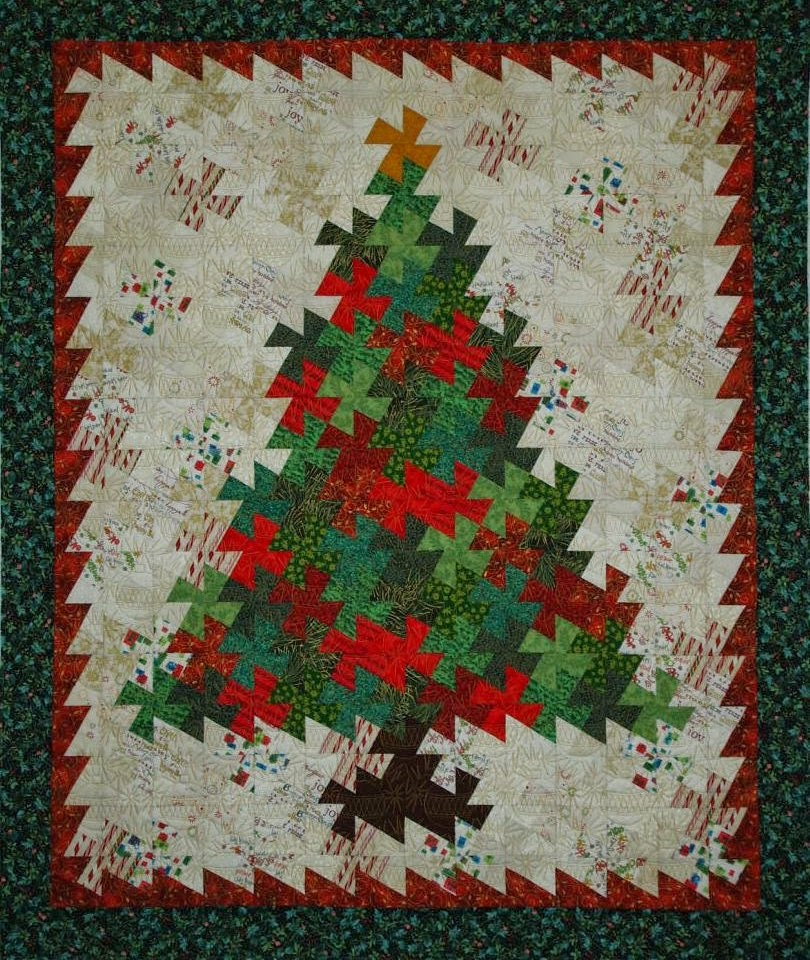 Lynne Capps's Pinwheel Christmas Tree Quilt