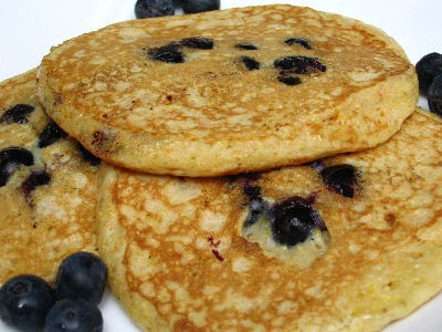 Mollie Katzen's Blueberry & Cornmeal Buttermilk Pancakes | Lisa's...