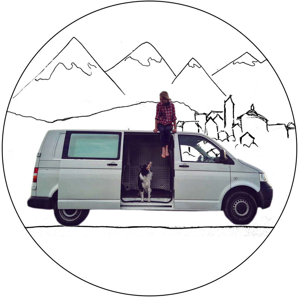 We Are A Girl Dog And Van Named Illa Travelling Europe With The Dream To See Northern Ice