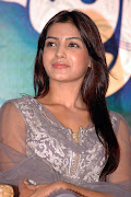 Samantha In My Heart: Samantha Cute Stills In Cement Dress With No
