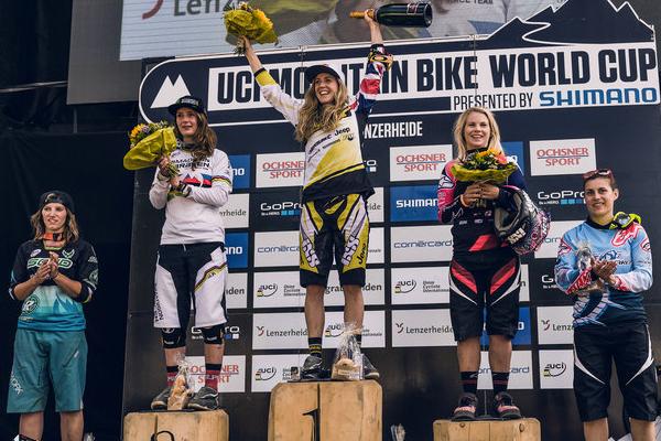 2015 Lenzerheide UCI World Cup Downhill: Results Women's Podium