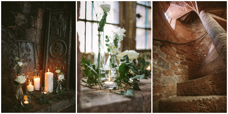 Candles and flowers at St Nicholas Priory