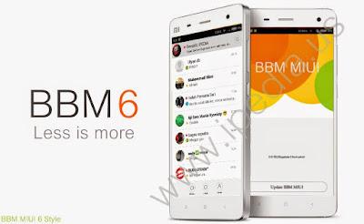 BBM MIUI 6 Style Thread Full Version