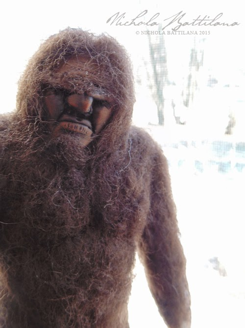 Needlefelted Sasquatch by Nichola Battilana