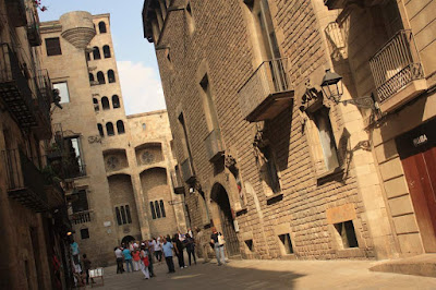 Plaça del Rei inside the Barcelona Gothic Quarter