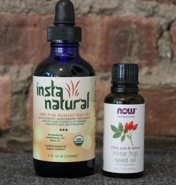 Instanatural rosehip seed oil size comparison
