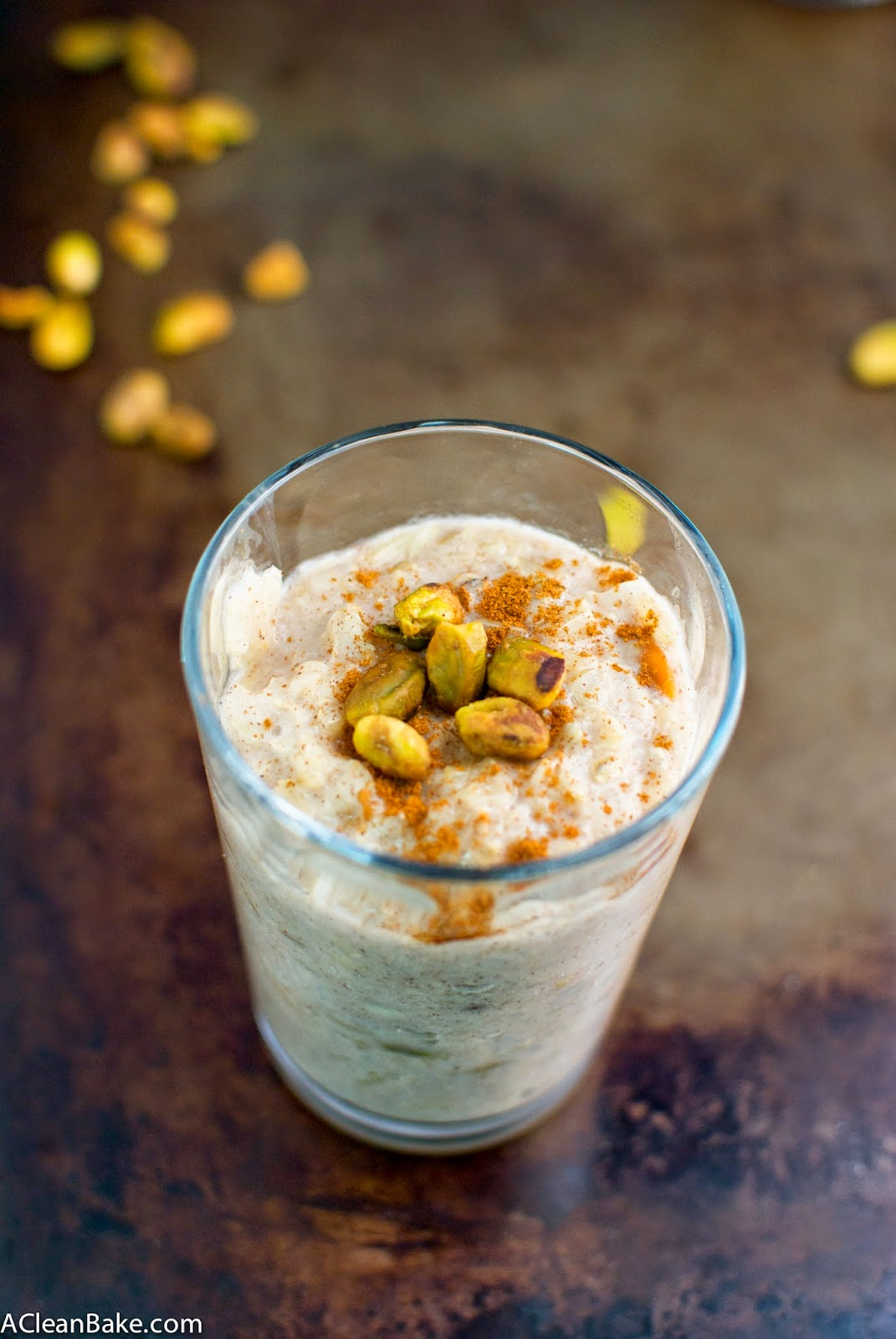Healthier Pistachio Orange Rice Pudding