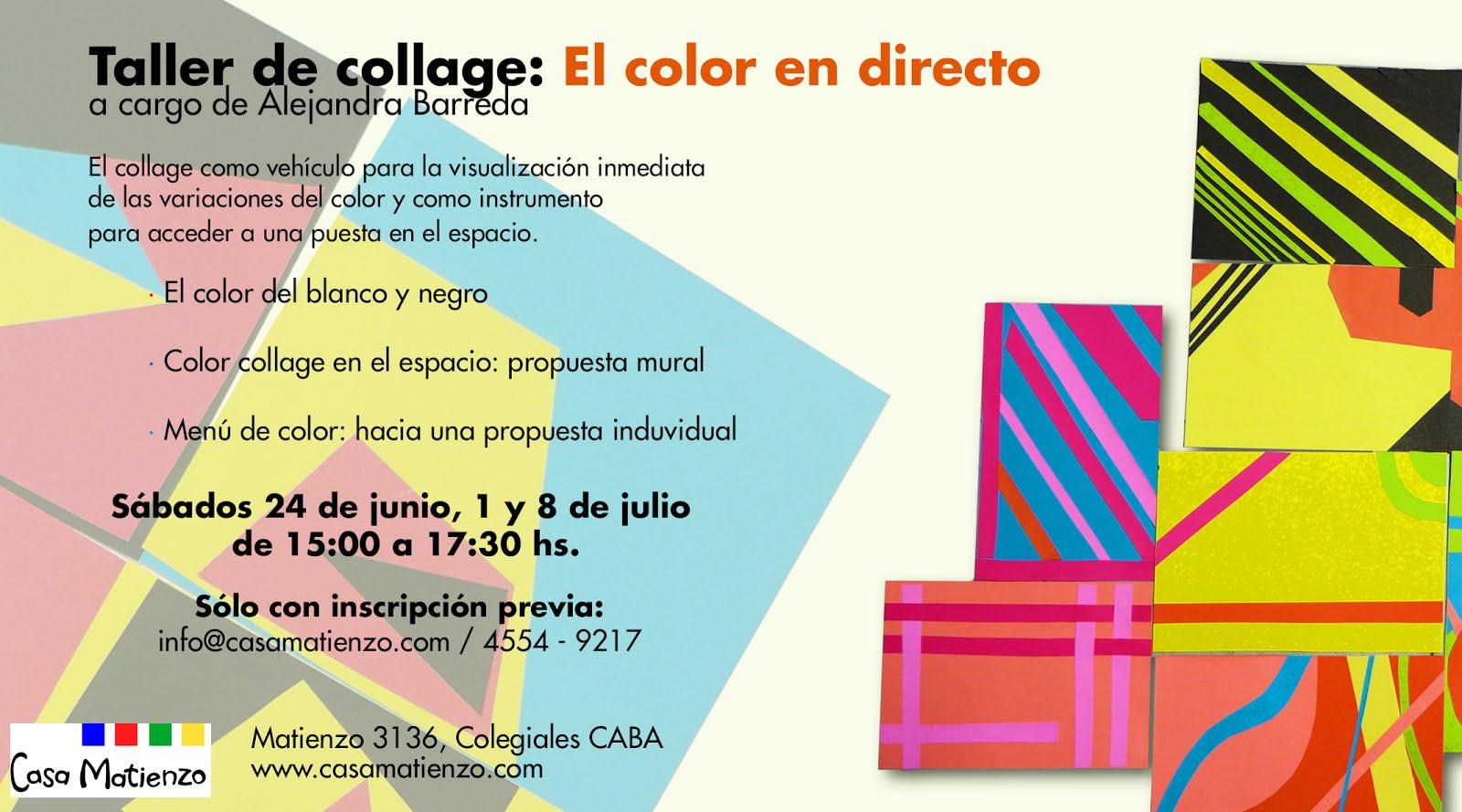 Junio: TALLER EL COLOR EN DIRECTO. Por Alejandra Barreda