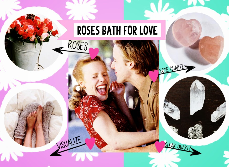 How to make a roses bath to attract love