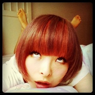 Kyary instagram face looking up きゃりーぱみゅぱみゅ