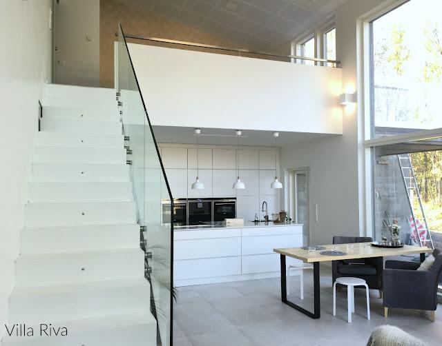 portaat, lasikaide, keittiö, ruokailutila, parvi