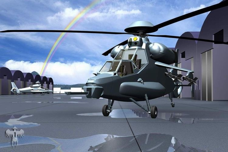 WZ-10 PLA Army Attack Helicopter