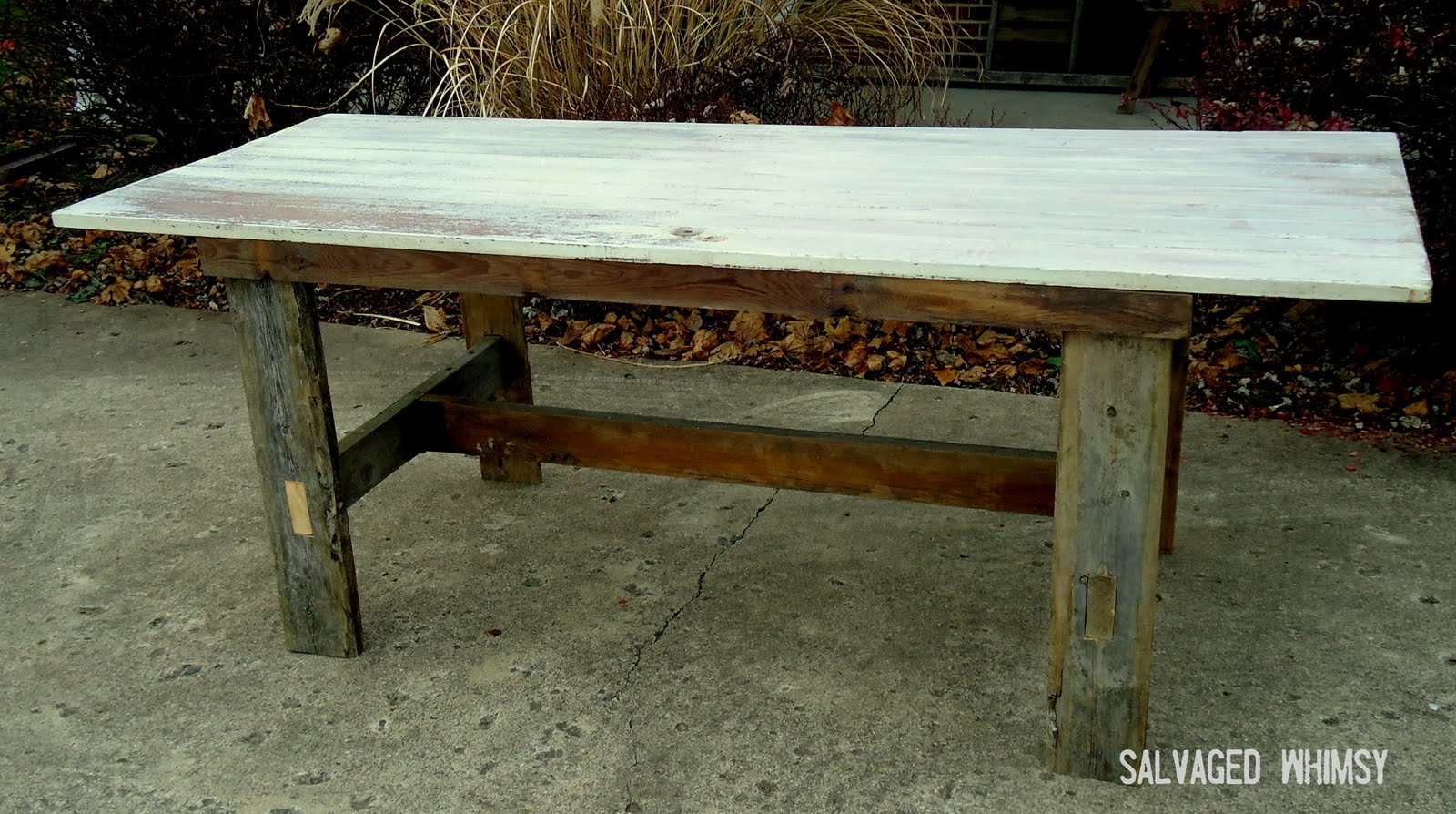 salvaged whimsy finally the farm table