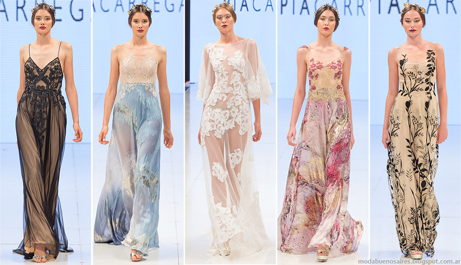 Vestidos de fiesta 2015 Pia Carregal otoño invierno 2015. Moda otoño invierno 2015.