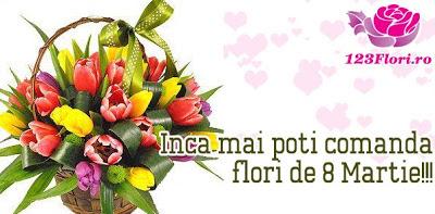 Flori cadou de 8 martie, buchete de flori ieftine